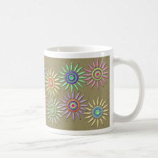 Taza de café del flower power