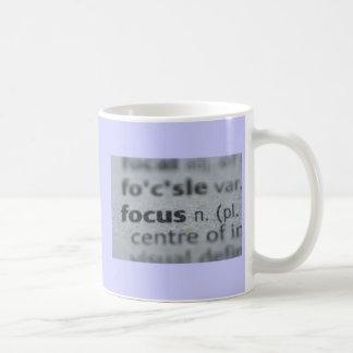 taza de café del foco