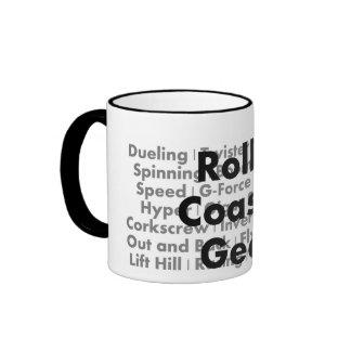 Taza de café del friki de la montaña rusa