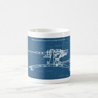 Taza de café del fuego antiaéreo 88