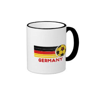 Taza de café del fútbol de Alemania