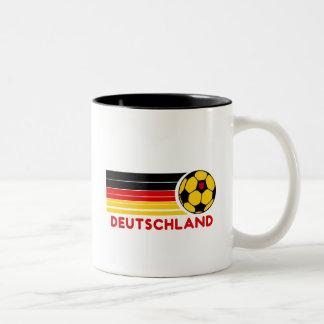 Taza de café del fútbol de Deutschland