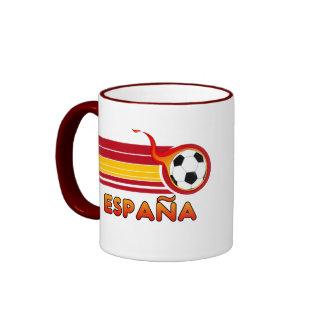 Taza de café del fútbol de Espana