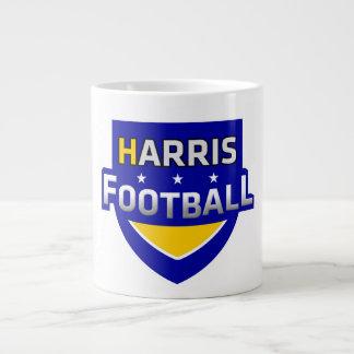 Taza de café del fútbol de Harris Taza Grande