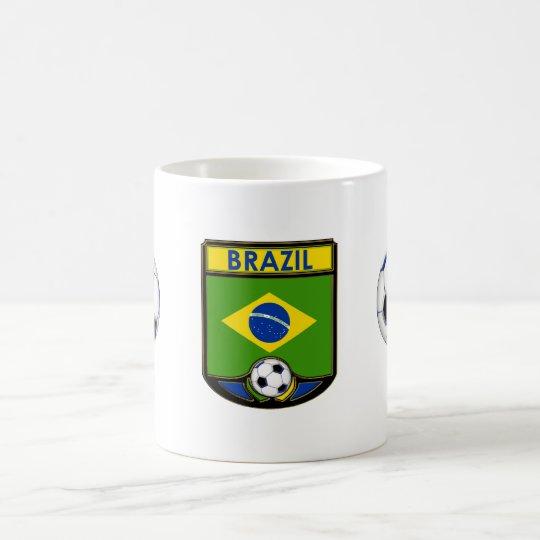 Taza de café del fútbol del Brasil