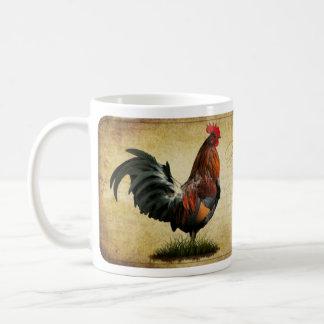Taza de café del gallo del vintage