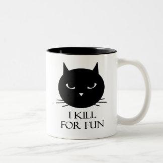 Taza de café del gato de Destructo #1
