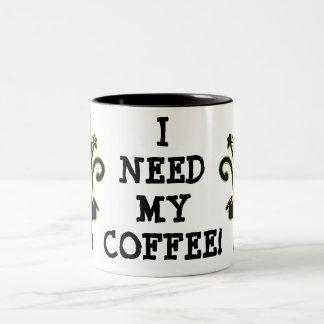 Taza de café del gato del cafeína