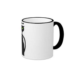 Taza de café del gato negro