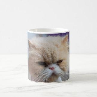 Taza de café del gato persa del Ronroneo-fect