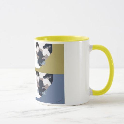 Taza de café del gato siamés 4-Square