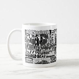 Taza de café del género de la música
