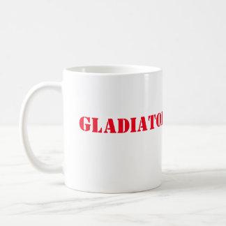 Taza de café del gladiador del escándalo