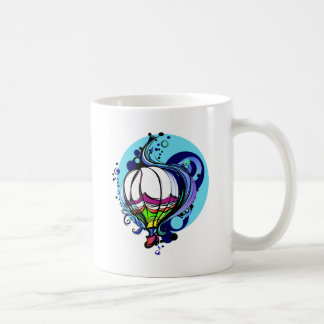 Taza de café del globo del aire caliente