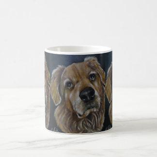 Taza de café del golden retriever