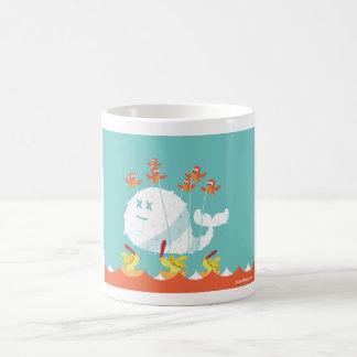 Taza de café del gorjeo - ballena estúpida del