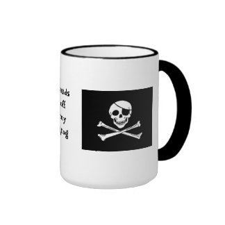Taza de café del grog del pirata
