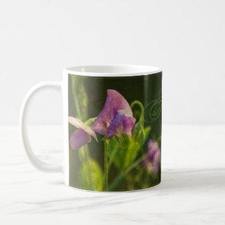 Taza de café del guisante de olor