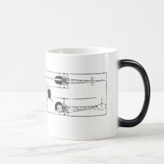 Taza de café del helicóptero de Bell 47