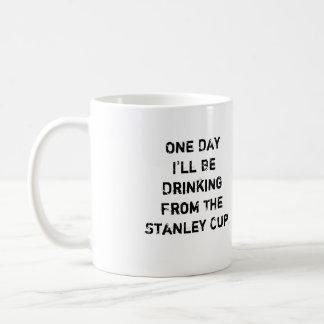 "Taza de café del hockey - ""un día beberé… """