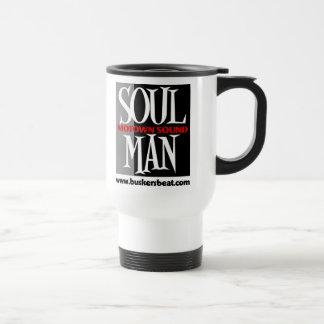 Taza de café del hombre del alma