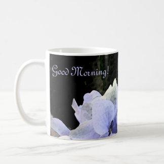 Taza de café del Hydrangea de la acuarela