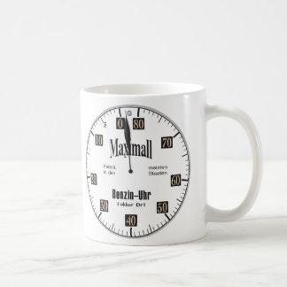Taza de café del indicador de combustible de
