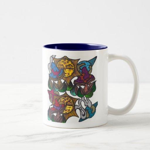 Taza de café del jardín secreto