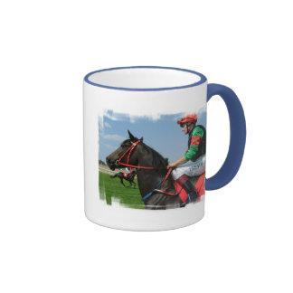 Taza de café del jinete y del caballo