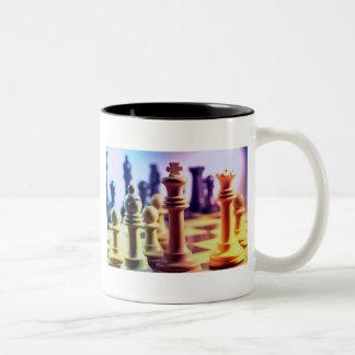 Taza de café del juego de ajedrez
