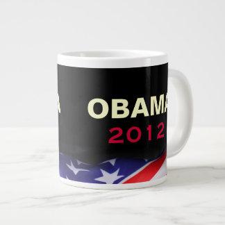 Taza de café del jumbo de OBAMA 2012 Taza Grande