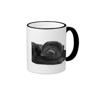 Taza de café del laboratorio el dormir