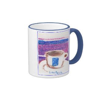 taza de café del lavazza