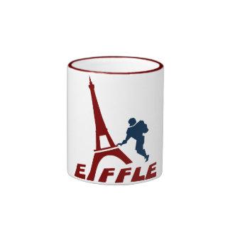 Taza de café del logotipo de Eiffle