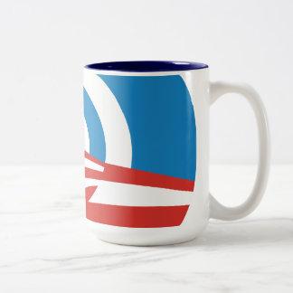 Taza de café del logotipo de la MOD Obama