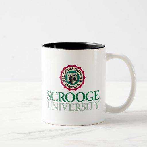 Taza de café del logotipo de la universidad de Scr