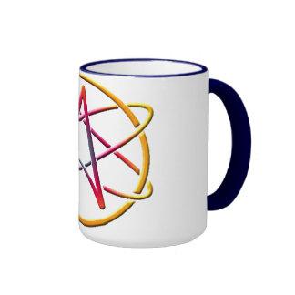 Taza de café del logotipo del ateísmo