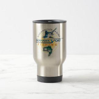 Taza de café del logotipo del club de la pesca de