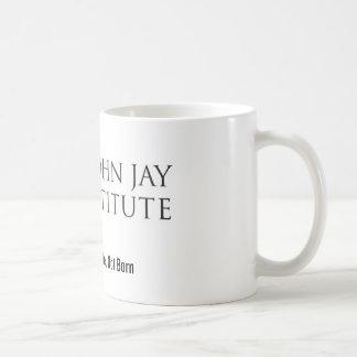 Taza de café del logotipo del instituto de Juan