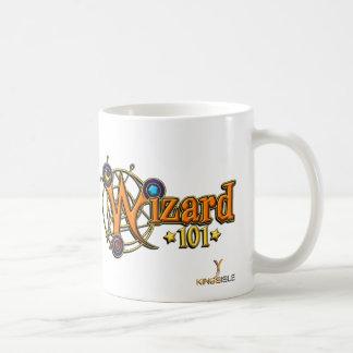 Taza de café del mapa de la ciudad del mago Wizard
