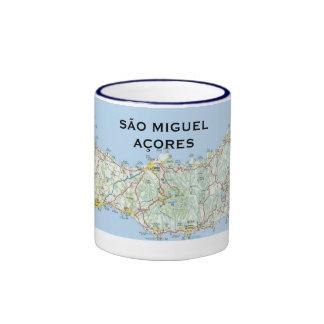 Taza de café del mapa de Miguel* del sao