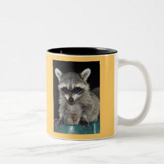 Taza de café del mapache