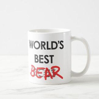 """""""Taza de café del mejor oso del mundo"""""""