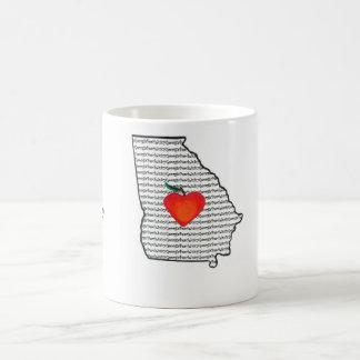 """Taza de café """"del melocotón jugoso de Georgia"""""""