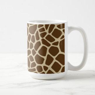 Taza de café del modelo de la jirafa
