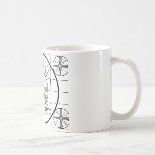 taza de café del modelo de prueba de los años 50