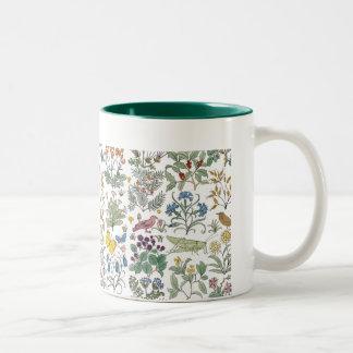 Taza de café del modelo del jardín del boticario d