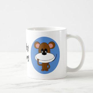 Taza de café del mono