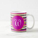 Taza de café del monograma