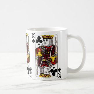 Taza de café del naipe de rey Of Clubs